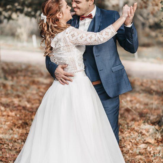 Ouverture de bal dans le parc. Julie Nagy Wedding Planner Lyon