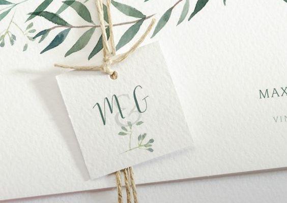 Un exemple de faire-part de mariage végétal. Julie Nagy Wedding Planner Lyon