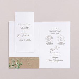 Carton invitation dîner avec le faire-part