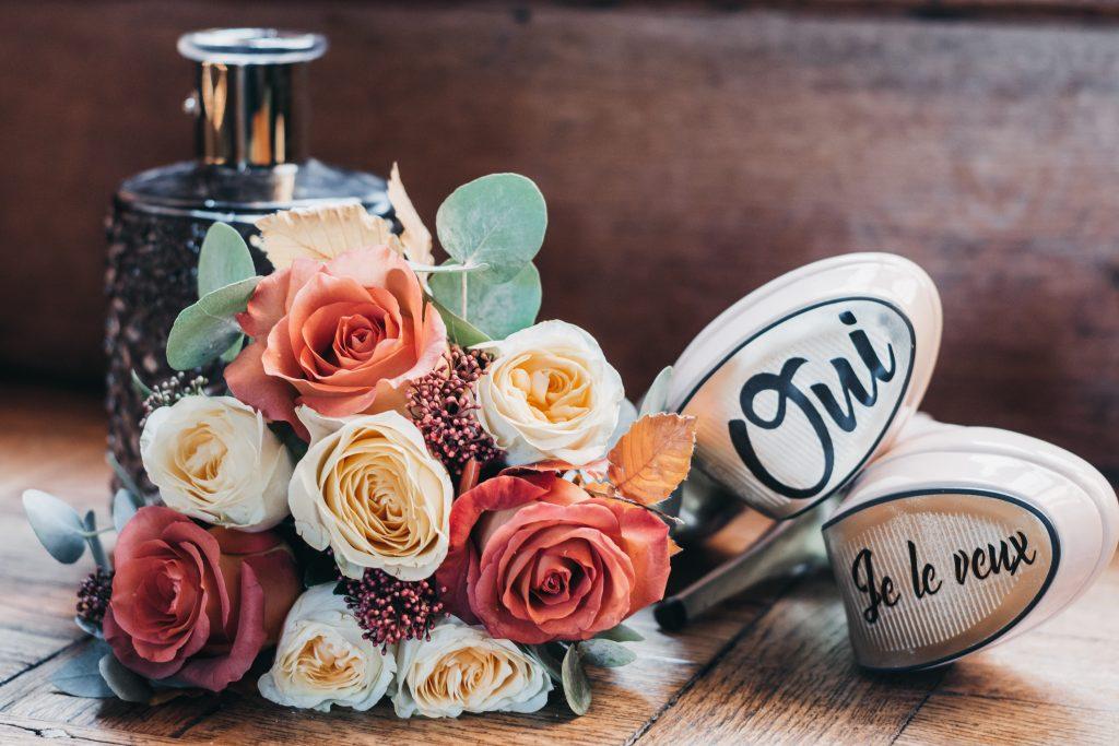 Chaussures de la mariée. Julie Wedding Planner Lyon